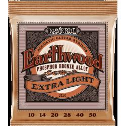 CORDE ERNIE BALL EARTHWOOD BRONZE EXTRA LIGHT 10-50