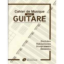 PARTITIONS BEUSCHER bloc guitare tablatures