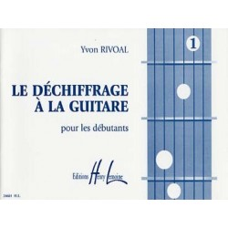 Méthode déchiffrage à la guitare vol 1 RIVOAL