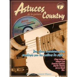 PARTITIONS DENIS ROUX ASTUCES DE LA GUITARE COUNTRY vol 1...