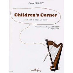 PARTITIONS DEBUSSY childrens corner  flute harpe piano