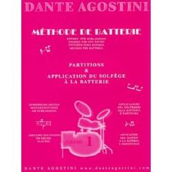 PARTITIONS AGOSTINI vol 1 METHODE DE BATTERIE