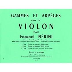 PARTITIONS NERINI gammes et arpeges pour le violon 1er...