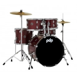 Batterie PDP CENTER STAGE SET Red Sparkle PDCE2015KTRR