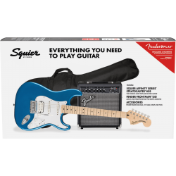 PACK SQUIER AFFINITY STRATOCASTER HSS LAKE PLACID BLUE